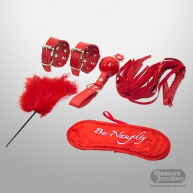 BDSM SEX KIT Bracelet+Whip+Goggles+Feather+Mouth Ball GagBDSM-001