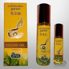 Thai herbal massage yellow oil THP-001