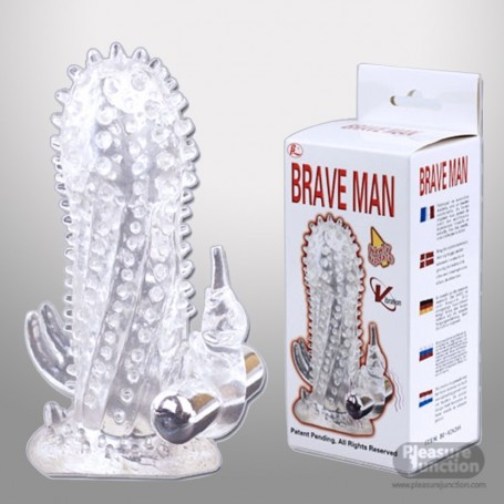 Sheath Rabbit Extender Penis with dots Brave Man PES-020